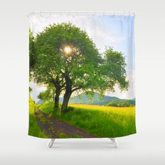 Sunny meadow Shower Curtain