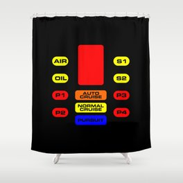 K.I.T.T. (KNIGHT RIDER) v1 Shower Curtain