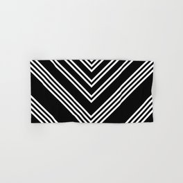 Back and White Lines Minimal Pattern No.3 Hand & Bath Towel