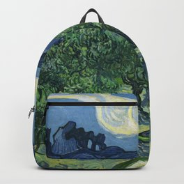 Olive Trees by Vincent van Gogh Backpack