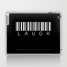 laugh and the world Laptop & iPad Skin
