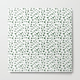 Green Hearts Field Metal Print