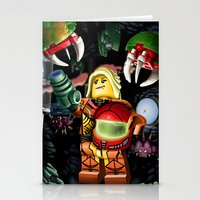 metroid Stationery Cards featuring LEGO Metroid!! by Meteo Designs