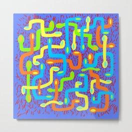 serpent pattern Metal Print