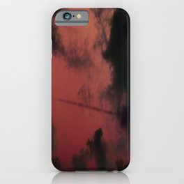 Blue sky and clouds Spring iPhone Case