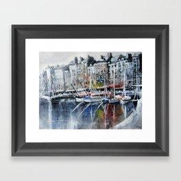 The boats Framed Art Print