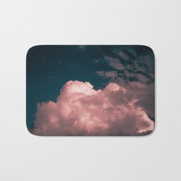 Pink night clouds Bath Mat