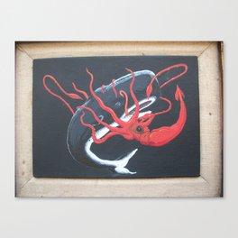 Sperm Whale versus Giant Squid Canvas Print