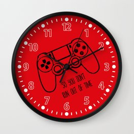 Video Games Red Wall Clock