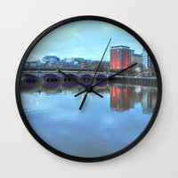 jamaica Wall Clocks featuring Jamaica Bridge by Valerie Paterson