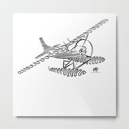 Flying Floating Lines Metal Print