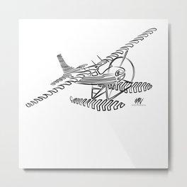 Flying Floating Lines Metal Print