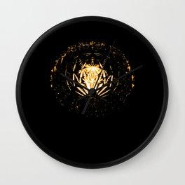 Lamp in the dark Wall Clock