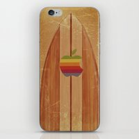 surfboard iPhone & iPod Skins featuring Surfboard by Laure.B