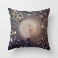 manhattan Throw Pillows featuring Manhattan by Michelle Wenz