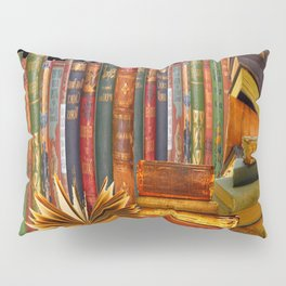 SHABBY CHIC ANTIQUE LIBRARY BOOKS, LEDGERS &  BOOKS Pillow Sham