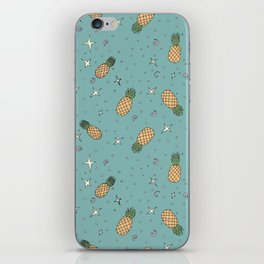 Atomic Pineapple - Blue iPhone Skin