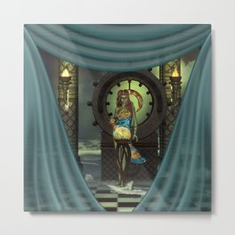 Mystical world, beautiful fairy Metal Print