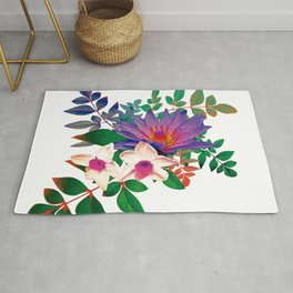Lilies in summer Rug