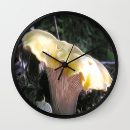 Electric Chanterelle Wall Clock
