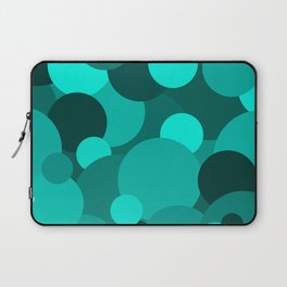 Teal Circle Pattern Laptop Sleeve