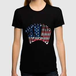 'MERICANO American Flag design for Spanish Speaking America T-shirt