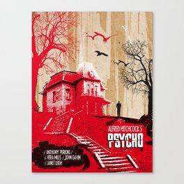 Psycho movie art print Canvas Print