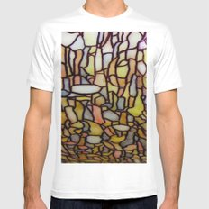 Stained Glass White Mens Fitted Tee MEDIUM