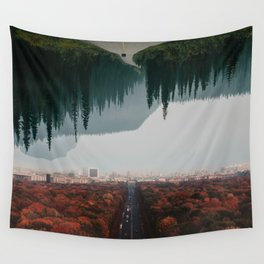 Nature Meets City Wall Tapestry