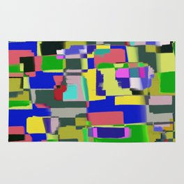 Raw Paint 3 - Colour Abstract Rug