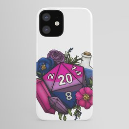 Pride Bisexual D20 Tabletop RPG Gaming Dice iPhone Case