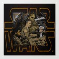 starwars Canvas Prints featuring STARWARS by zinakorotkova