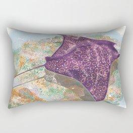 Colorful Ocean Manta Ray Rectangular Pillow