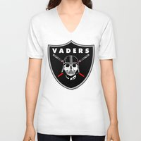 oakland V-neck T-shirts featuring Oakland Vaders by Ant Atomic