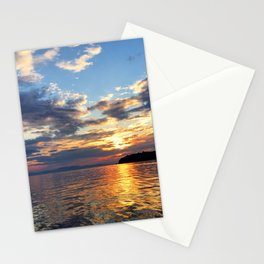 Sunset Over Lake Champlain Stationery Cards