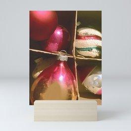 Christmas Cardboard Window #Christmas #vintage #society6 Mini Art Print