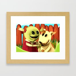 Inbetween Puppets Framed Art Print