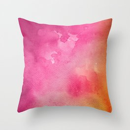 Original Painting In Bright Pink And Orange Throw Pillow