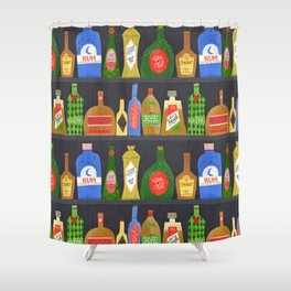 Bar Cart Art Shower Curtain
