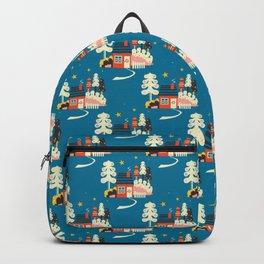 Festive Winter Hut Backpack