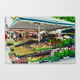 Flower shop in Munich #2 Canvas Print