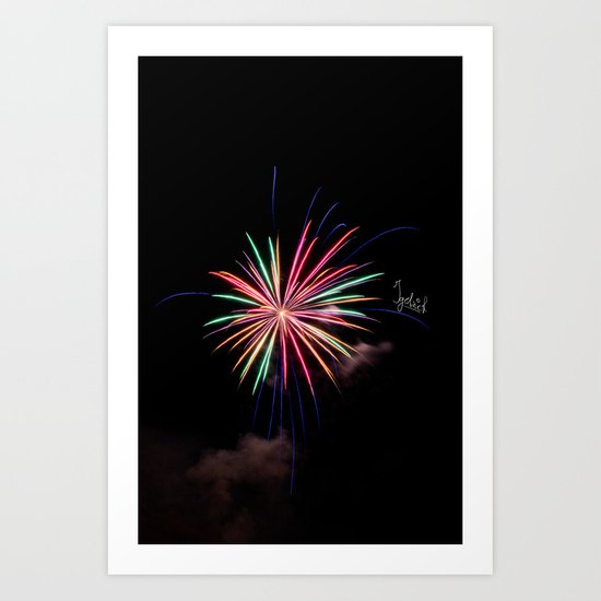Star of Fireworks Art Print