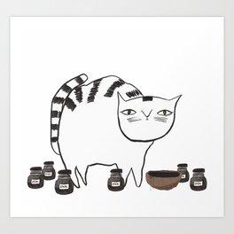 Pentel the cat Art Print