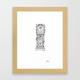 the witching hour. Framed Art Print