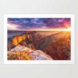 Purple Sunset at the Grand Canyon Art Print