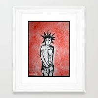 queer Framed Art Prints featuring Queer Punx by Dandy Jon
