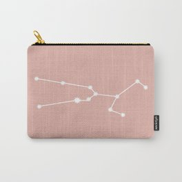 Taurus Zodiac Constellation - Pink Rose Carry-All Pouch