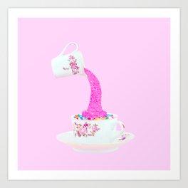 Glitter Tea Party Art Print