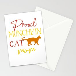 Proud Munchkin Cat Mom Stationery Cards