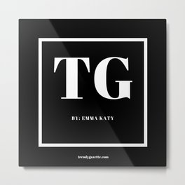 Trendy Gazette Metal Print